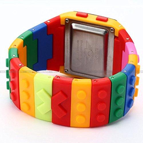XuBa Pantalla LCD Digital Alarma Señora Hombres Bloque Constructor Cronómetro Deporte Caucho Reloj LED091