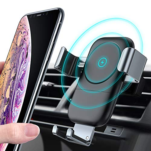 TORRAS Wireless Car Charger Mount, Auto-Clamping Gravity Fast Cell Phone Charger Holder Compatible with iPhone 11 Pro Max/Xs/Xs Max/XR/X / 8/8 Plus, Galaxy Note 10 / S10 / S9+ / S8, More