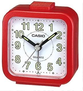TQ-141-4EF - Reloj despertador analógico, esfera blanca, color rojo