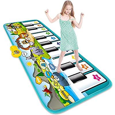 STREET WALK Musical Piano Dance Mat - Kids Musical Play Mats(59x24.6in) - Music Keyboard Dance Touch Play Mat - Early Education Toys for 1 2 3 4 5 6 Year Old Baby Girls Boys by STREET WALK