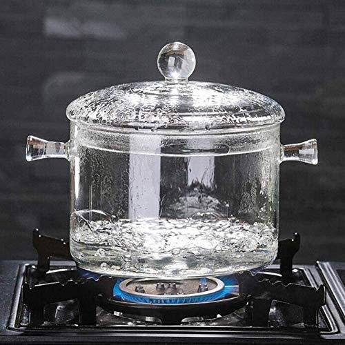 Olla para sopa de vidrio de borosilicato duradero Olla transparente Olla para sopa Hervir agua...