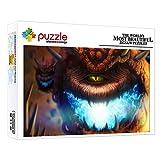 FFGHH Puzzles Adultos 1000 Piezas Monstruo De Fantasía Puzzle Madera Puzzles Infantiles 5 A?Os Decoración del Hogar para Niños Adultos Amigo 75 * 50Cm
