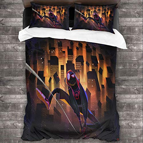 Loruoaine Quilt Cover Pillowcasespider Man Universe Illustration x9Double Bed with Supplies