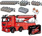 Camión Technic con Grúa, Modelo Camión Technic con Control Remoto con 19 Motores, Camión Grúa Technic Motorizado Modelo 10966 Piezas MOC Compatible con Tecnología Lego