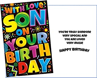 Prime Greetings Happy Birthday Card For Son. With Love. You're Truly Someone Very Special And You Are Loved Very Much!