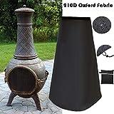 Housse de cheminée d'extérieur imperméable 210D Oxford résistant pour Le Chauffage de Jardin...