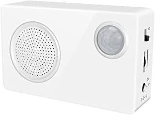 Mini PIR Motion Sensor- Welcome Alarm-Sound Motion Doorbell- Home Security Driveway Alarm- Store Welcome Entry Chime- Audio Speaker with USB Download Function-Mailbox Alert- Visitor Door Chime