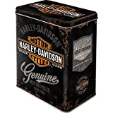Genuine Harley Davidson logo - Caja de almacenamiento 10x14x20 cm