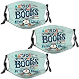 So Many Books So Little Time 3PCS Face Mask Reusable Adjustable for Outdoor Sports Breathable...