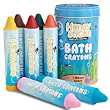 Image: Honeysticks Beeswax Bath Tub Crayons for Toddlers and Kids, Non-Toxic, Washable and Easy Clean Up, Water Soluble Bath-Time Fun, Food Grade Pigments, Handmade in New Zealand (7 Pack)