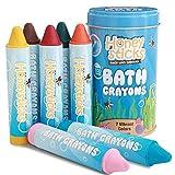 Honeystick Crayones para Niños y Bebés. Hechos a Mano con Cera de Abeja No Tóxica para la Bañera. Sin Fragancia, Juguetes de Baño No Irritantes. Color Brillante y Fácil de Mantener. Lavable. Set de 7