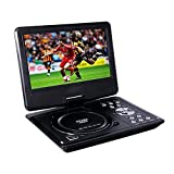 Buyee Rotating Swivel Screen Handheld Portable DVD Player LCD Screen with Function of