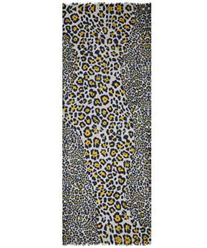Ahujasons Damen Cashmere Mischung Leopard Print Schal Multi-gefärbt Ein Größe