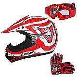 * Oferta combo * Conjunto Leopard LEO-X17de casco, guantes y gafas de...