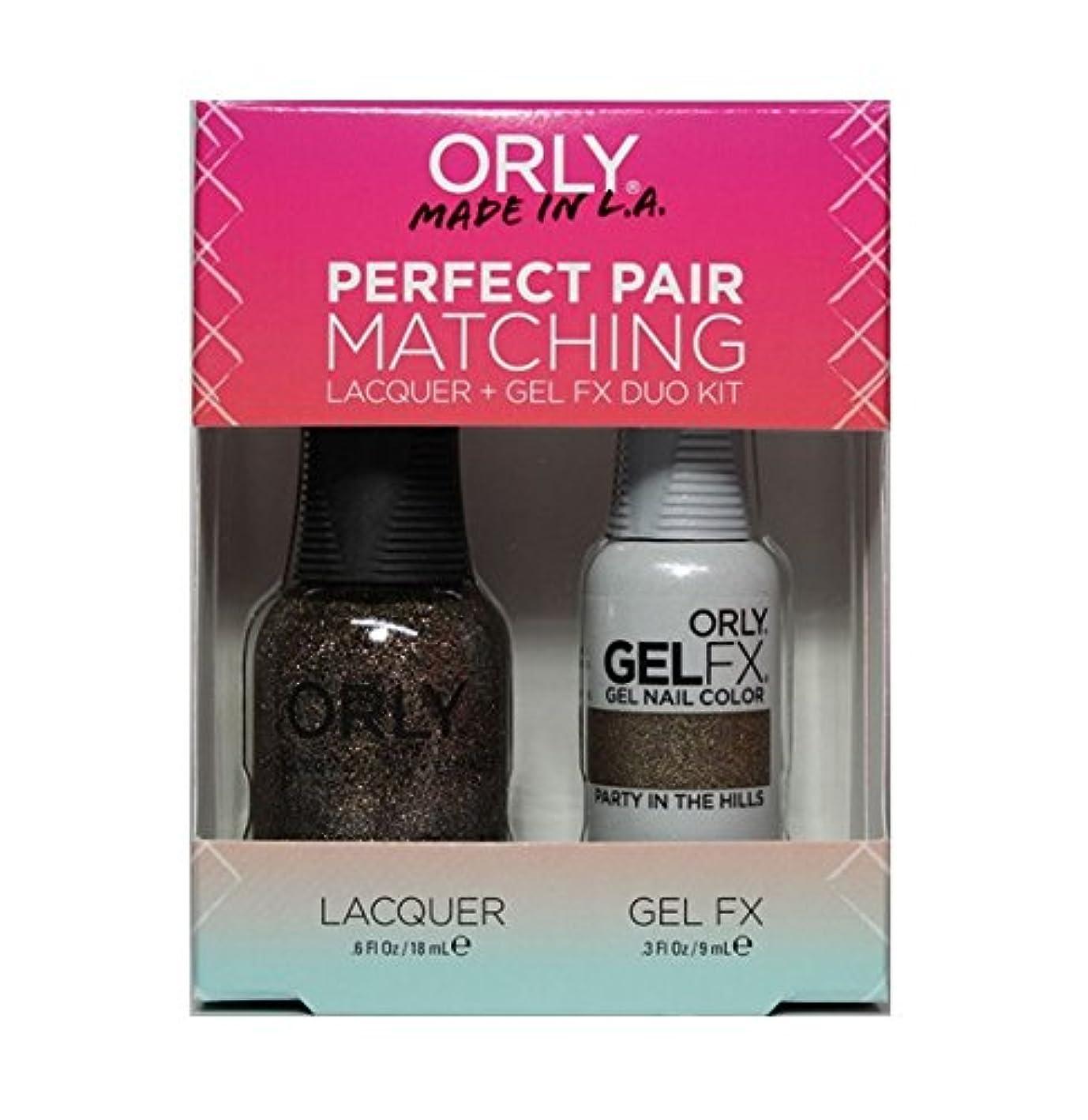 定常一貫したパッケージOrly - Perfect Pair Matching Lacquer+Gel FX Kit - Party In The Hills - 0.6 oz / 0.3 oz