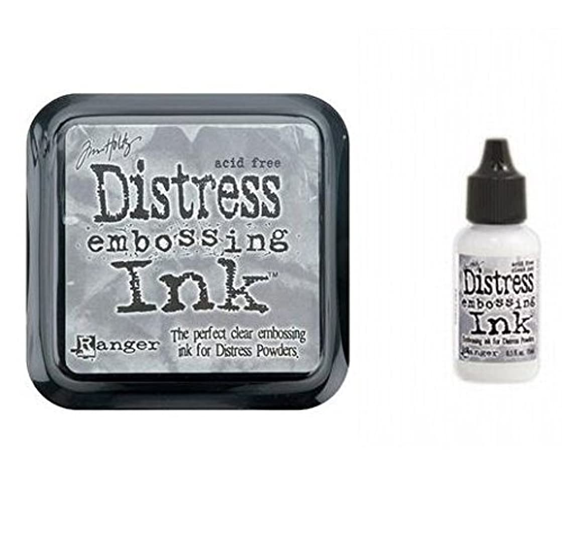 Tim Holtz Ranger Distress Embossing Ink Stamp Pad & Re-Inker Refill Clear Ink