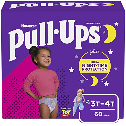 Pull-Ups Night-Time Girls' Training Pants, 3T-4T, 60 Ct