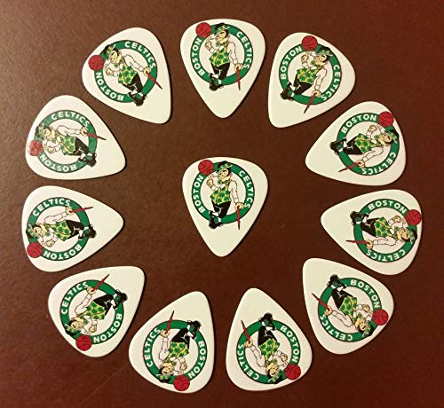 NBA Celtics Logo Guitar Picks (12 picks) - BUY 3 FOR THE PRICE OF 2 (MIX OR MATCH)