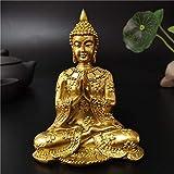 LBSST Estatua de Buda de Tailandia Dorada, decoración del jardín del hogar, Escultura de Buda de med...