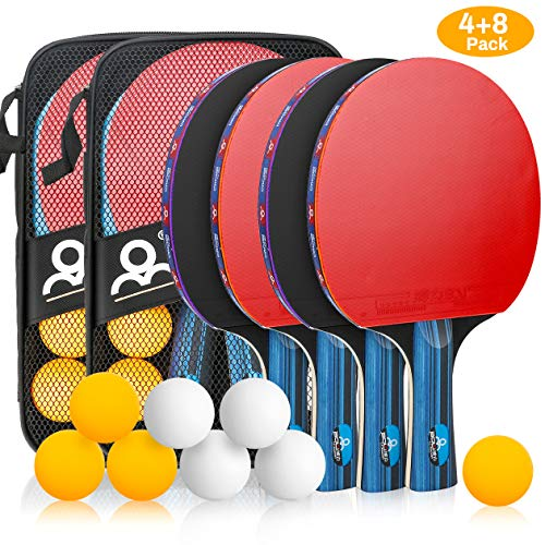 Best Review Of Allnice Ping Pong Set Portable Table Tennis Set Ping-Pong Game Pingpong Racket Set wi...