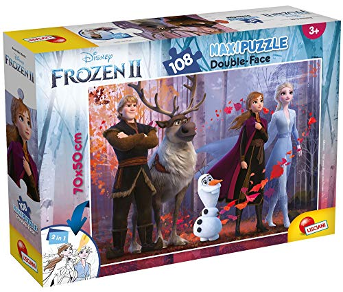 Liscianigiochi- Frozen 2 Puzzle DF Supermaxi, 108 Pezzi, Multicolore, 73399