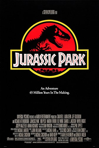 "Póster de la película ""Jurassic Park"" (1993, Steven Spielberg, Jeff Goldblum, Sam Neill, Laura Dern, Richard Attenborough, Ariana Richards, Joseph Mazzello, Wayne Knight, Samuel L. Jackson, BobPeck), papel, A2"