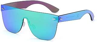 2020 VentiVenti Oversized Square Rimless Sunglasses Rectangular Mirrored Full Eyewear For Women Men