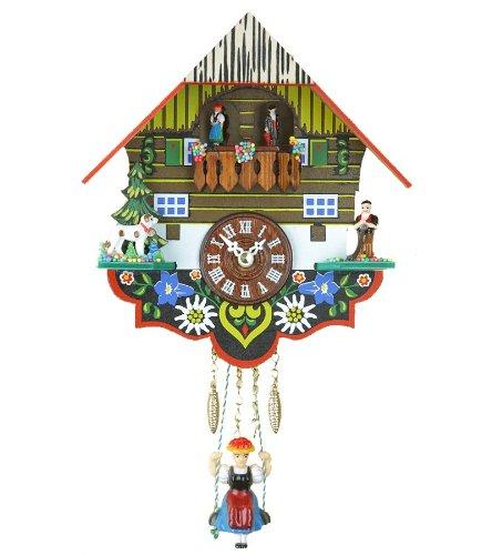Trenkle Reloj en Miniatura de la Selva Negra casa de la Selva Negra, Bailarines Que Dan Vuelta
