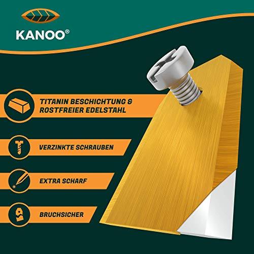 kanoo® Cuchillas de repuesto para robot cortacésped, 30 cuchillas de titanio para Gardena Husqvarna Automower Yard Force – Cuchillas de repuesto prémium para robot cortacésped con concepto mejorado