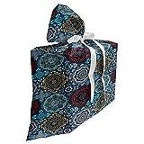 ABAKUHAUS marocain Sac Cadeau pour Fête Prénatale, rétro Ottoman, Pochette en Tissu Réutilisable de Fête avec 3 Rubans, 70 x 80 cm, Sable Marron Bleu et Ruby