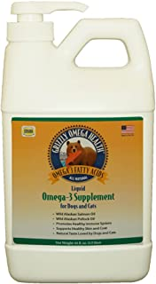Grizzly Omega Health for Dogs & Cats, Wild Salmon/Pollock Oil Omega-3 Blend