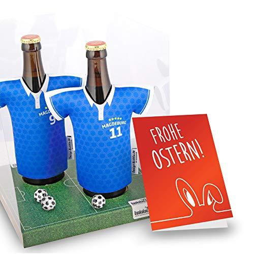 Ostergeschenk | Der Trikotkühler | Das Männergeschenk für MAGDEBURG-Fans | Langlebige Geschenkidee Ehe-Mann Freund Vater Geburtstag | Bier-Flaschenkühler by Ligakakao