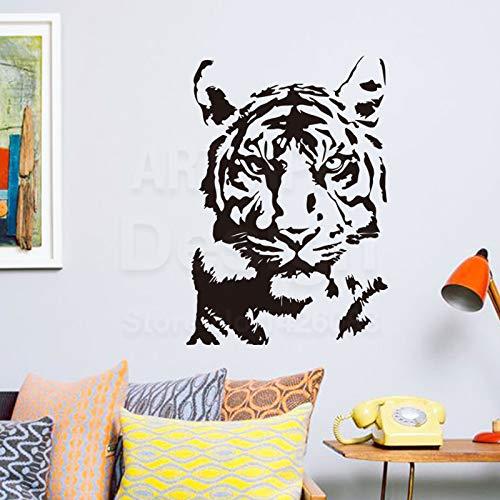58 * 83 cm Kunst neue design billige hauptdekoration vinyl tiger wandaufkleber abnehmbare haus dekor pvc bunte könig...