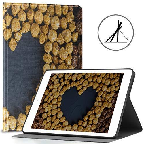 iPad Cubierta de 9.7 Pulgadas (Estuche Blando) Caramelo de Chocolate Palomitas de maíz en Forma de corazón Love iPad Air Cubierta de 2/9.7 Pulgadas con función automática de activación /