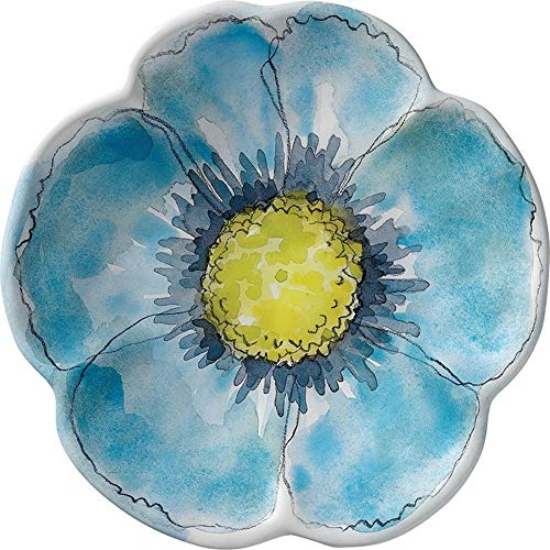 Floral Sketchbook Salad Plate Blue
