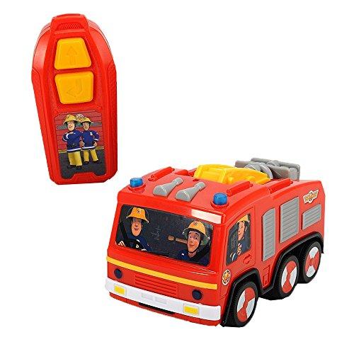 Dickie Toys Feuerwehrmann Sam IRC Jupiter, Spielzeugauto mit Infrarotfernsteuerung, mit Toplicht, 14 cm