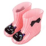ADDYZ Primavera otoño lluvia botas de los niños animal patrón botines niños bebé niños PVC impermeable zapatos