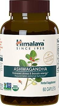 Himalaya Organic Ashwagandha Natural Stress Relief Energy Supplement 670 mg 60 Caplets 2 Month Supply