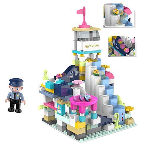LHTY Kindersimulation Lernspielzeug-Set, elektrische Kugelleiter mit zusammengebauter Musikarchitektur zum Stapeln von Lernspielzeug, Intelligenz-Aktivitätsspielzeug für 6-Jährige,A