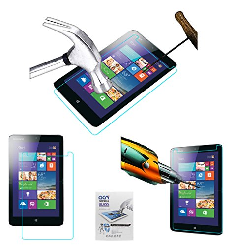 Acm Tempered Glass Screenguard Compatible with Lenovo Ideapad Miix 300 Screen Guard Scratch Protector