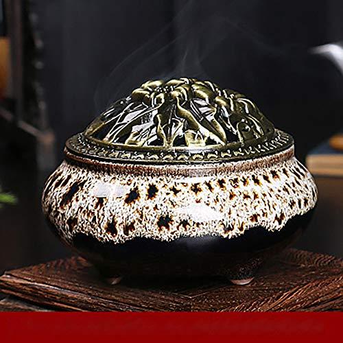 LBHDMZJK Incense Burner Home Decration Incense Sticks or Cones Burner Porcelain Incense Holder (Kiln Turned White)