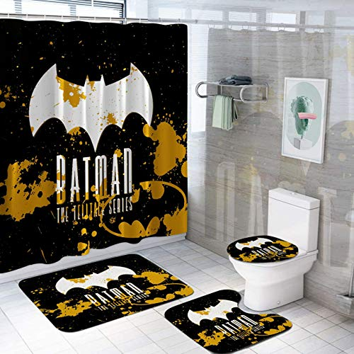 4 Piece Batman Shower Curtain Sets