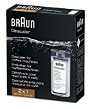 Braun Descaler, Universal Coffee & Espresso Machine Descaling Solution, 2-Pack (1 use per pack) Braun Descaler, Universal Coffee & Espresso Machine Descaling Solution, 2-Pack (1 use per pack)