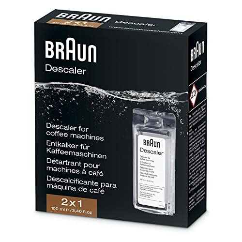 Braun BRSC003 2 x 100ml Ecodecalk Descaler for Coffee Machines, White