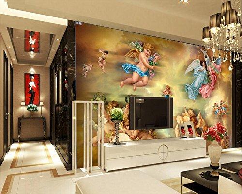 LWCX Fototapete Engel öl gemälde Wandgemälde Eingang Schlafzimmer Wohnzimmer TV Wandbild Fototapete für Wände 3d 180x120CM