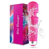 Upgraded Wand Massage,Rechargeable Wireless Waterproof Deep Tissue Percussion Muscle Electric Body Handheld Massagers for Neck and Back,Muscles, Back, Foot, Neck, Shoulder, Leg, Calf,Pink