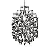 SPRINGHUA - Lampada a sospensione in acrilico a spirale per sala da pranzo e ristorante, colore: Cromo, dimensioni: diametro 43 cm