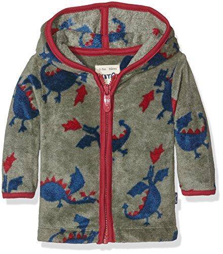 Kite Dragon Zip Fleece Sweat-Shirt, Vert (Sage), 3-6 Mois Bébé garçon