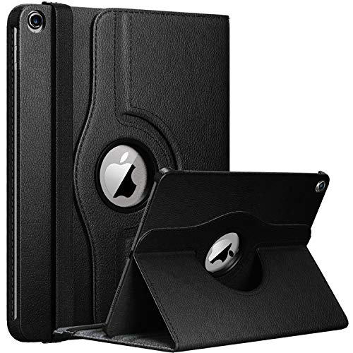 GADGET ARMOUR Apple iPad 10.2 Inch Case 7th/ 8th Generation 2019/2020 iPad 7/ iPad 8, Rotating Smart Cover For iPad 10.2 7th Gen, 8th Gen 2019/20 with Auto Wake and Sleep(BLACK)