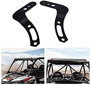 Omotor For 30 32 Inch Curved/Straight LED Light Bar A-pillar Below Roof Mount Brackets Fit POLARIS RZR 900 1000 800